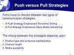 push versus pull strategies