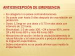 anticoncepci n de emergencia
