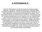 a fitoterapia