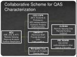 collaborative scheme for qas characterization