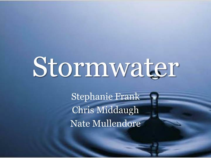 stormwater n.