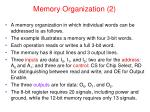 memory organization 2