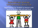 individualized learning differentiated instruction