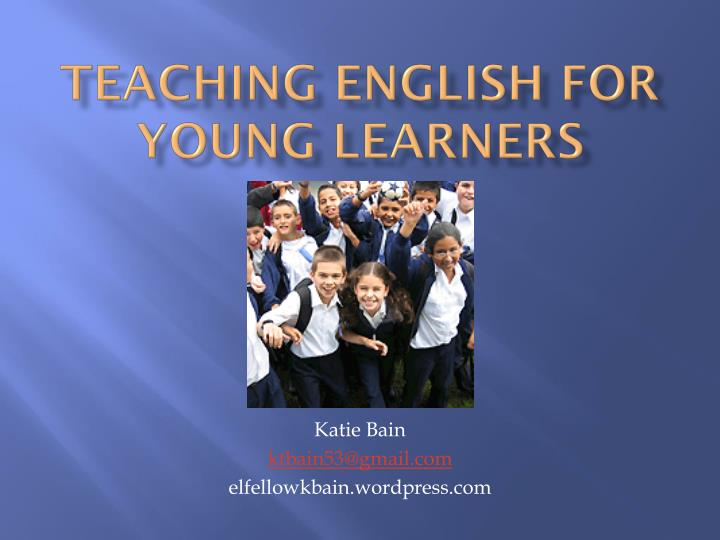 teaching english for young learners n.