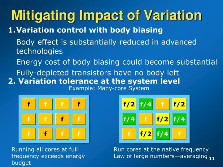 Mitigating Impact of Variation