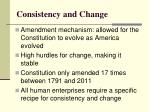 consistency and change