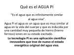 qu es el agua pi