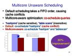 multicore unaware scheduling