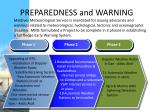 preparedness and warning