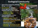 ecological community