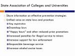 state association of colleges and universities