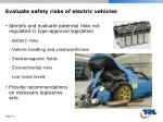 evaluate safety risks of electric vehicles