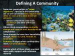 defining a community