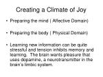 creating a climate of joy