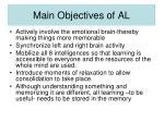 main objectives of al