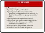iv resume