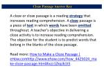 cloze passage answer key