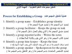 establishing a cooperative learning group assignment 1