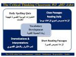 the critical thinking classroom