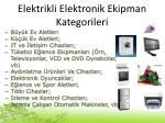 elektrikli elektronik ekipman kategorileri