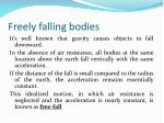 freely falling bodies