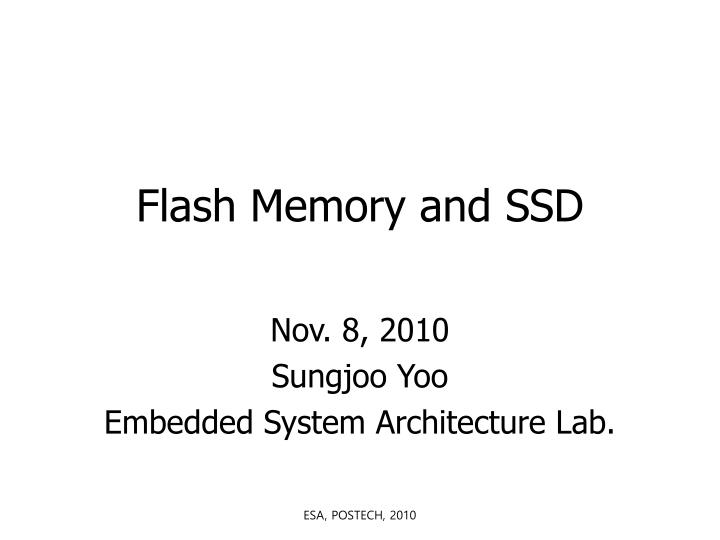 flash memory and ssd n.