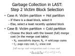 garbage collection in last step 2 victim block selection