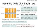 hamming code of a single data