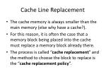 cache line replacement