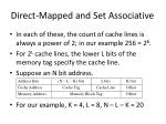 direct mapped and set associative