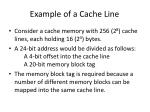 example of a cache line