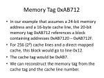 memory tag 0xab712