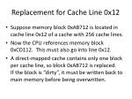 replacement for cache line 0x12