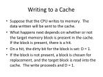 writing to a cache