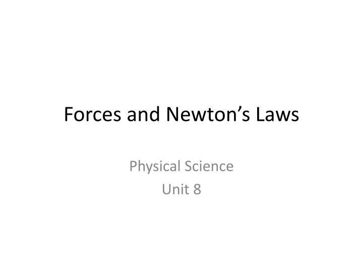 forces and newton s laws n.