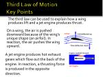third law of motion key points
