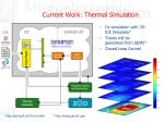 current work thermal simulation