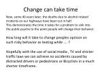 change can take time