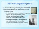 alcoholic beverage warning labels