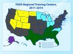 fasd regional training centers 2011 2014