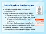 point of purchase warning posters