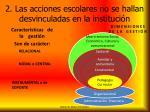 2 las acciones escolares no se hallan desvinculadas en la instituci n