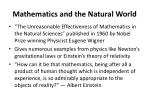 mathematics and the natural world