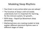 modeling sleep rhythms