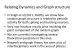relating dynamics and graph structure