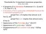 thresholds for 3 important monotone properties erdos renyi 1960