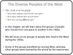 the diverse peoples of the west1