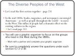 the diverse peoples of the west2