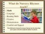 what do nursery rhymes teach