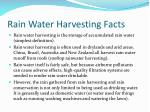 rain water harvesting facts